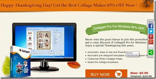 CollageIt Pro: 65% off Thanksgiving Special!