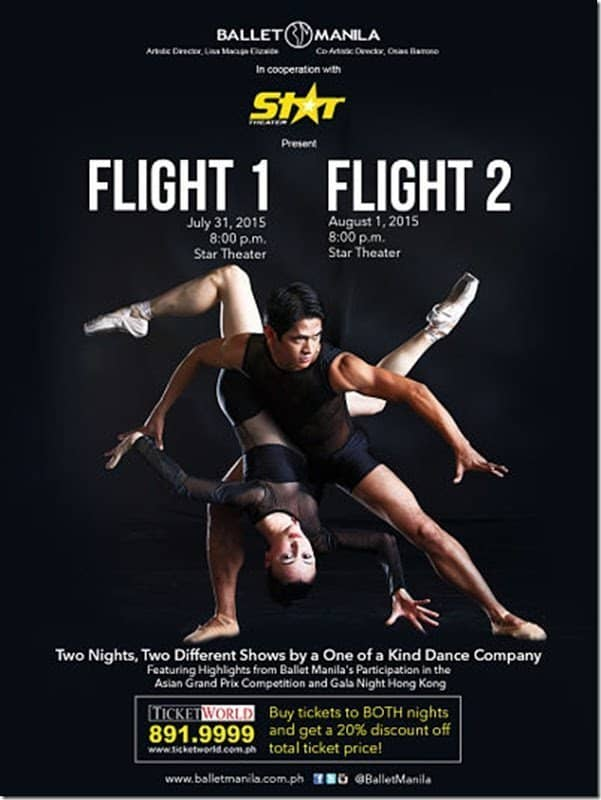 """Ballet Manila Presents """"Flight 1"""" and """"Flight 2"""" July 31 and August 1 at Star Theater"""