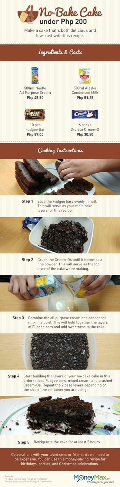 Prepare This No-Bake Fudge Cake for Valentine's Day (It's Under P200!!!)